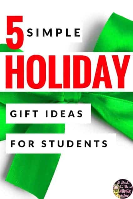 Student christmas gift ideas from teacher