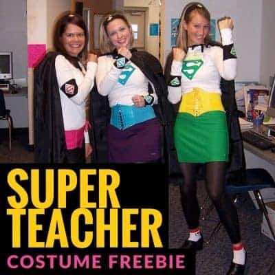 DIY Costume – Be a Super Teacher with FREE Iron on Patterns