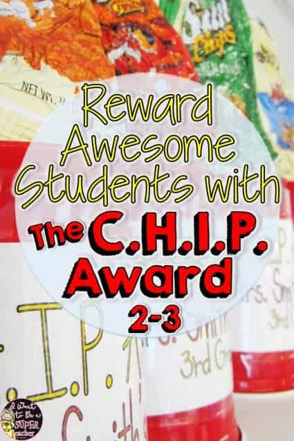 Fun and creative DIY rewards teachers can use for kids!! Step by step instructions for making C.H.I.P. (Caring helpful independent polite) Awards. Great for elementary school students in 2nd and 3rd grade. Click for pictures and instructions. #education #classroommanagement #diy