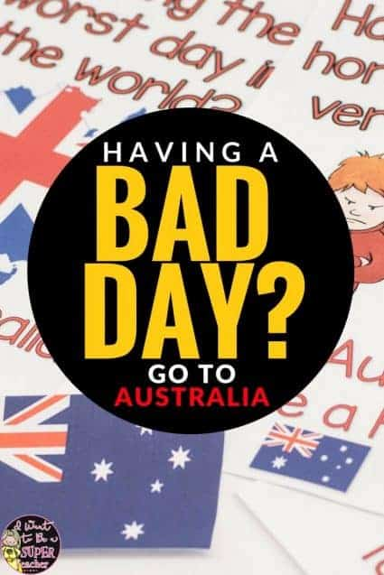 Need an easy classroom management idea for the elementary classroom? Use Australian Flags along with the book Alexander and the Terrible, Horrible, No Good, Very Bad Day as a classroom management strategy. Would work great in 1st, 2nd, or 3rd grade. #education #classroommanagement #firstgrade #secondgrade #thirdgrade