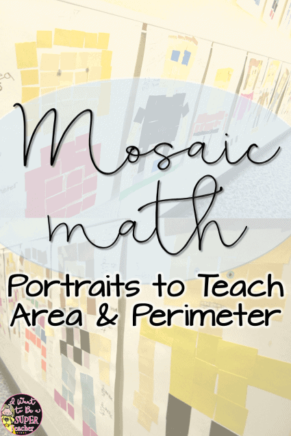 If you're looking for a fun perimeter or area math activity try this math mosaic art project! An easy way for elementary students to practice perimeter and area. All you need is construction paper squares! Fun for students and easy for teachers. Plus it makes a darling bulletin board display. Perfect for 2nd, 3rd, 4th, or 5th grade! Click for more examples and instructions. #math #perimeter #area #2ndgrade #3rdgrade #4thgrade #5thgrade