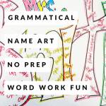 A No Prep First Week Back Activity: Grammatical Name Art