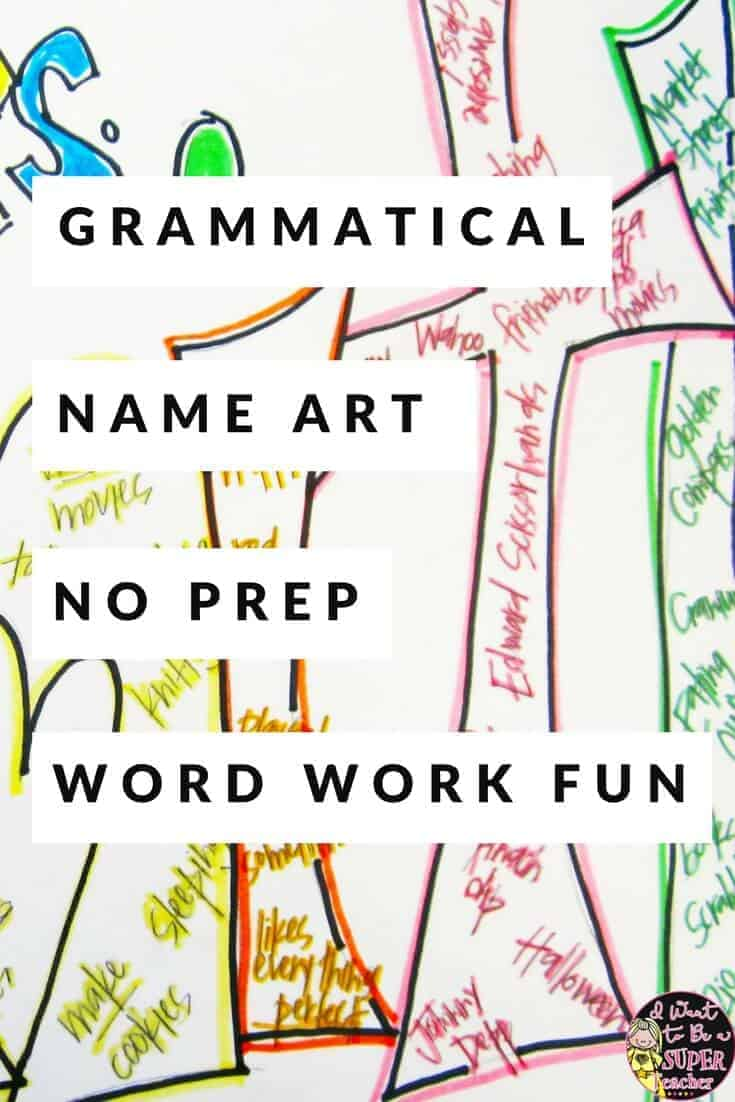 A NO PREP art/language activity teachers can use any time during the year. All you need is paper! Use this project to transition back after winter or spring break. This activity can also work as a back to school