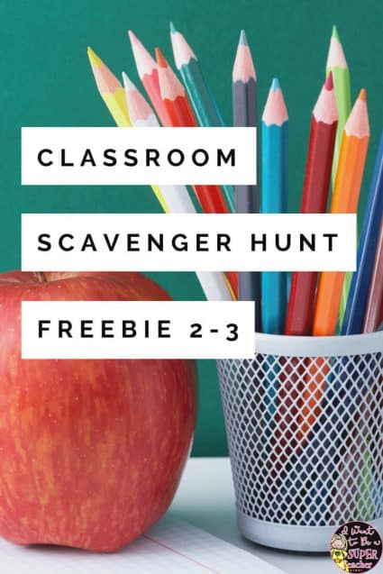 Looking for a FREE back to school activity? Try this free classroom scavenger hunt in your 2nd or 3rd grade classroom. This editable freebie is perfect for elementary teachers looking to introduce kids to classroom supplies and learning areas, PLUS it counts as a much needed brain break on those first days of school! Just edit the free printable pages and add to your FUN first week activities for the beginning of the year. Click for the freebie. #backtoschool #secondgrade #thirdgrade #free #freebies #freebie #classroomfreebies