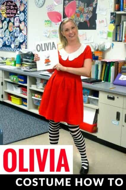 How to be olivia the pig olivia costume for adults a simple idea for a diy teacher halloween or march is reading month book character costume solutioingenieria Gallery