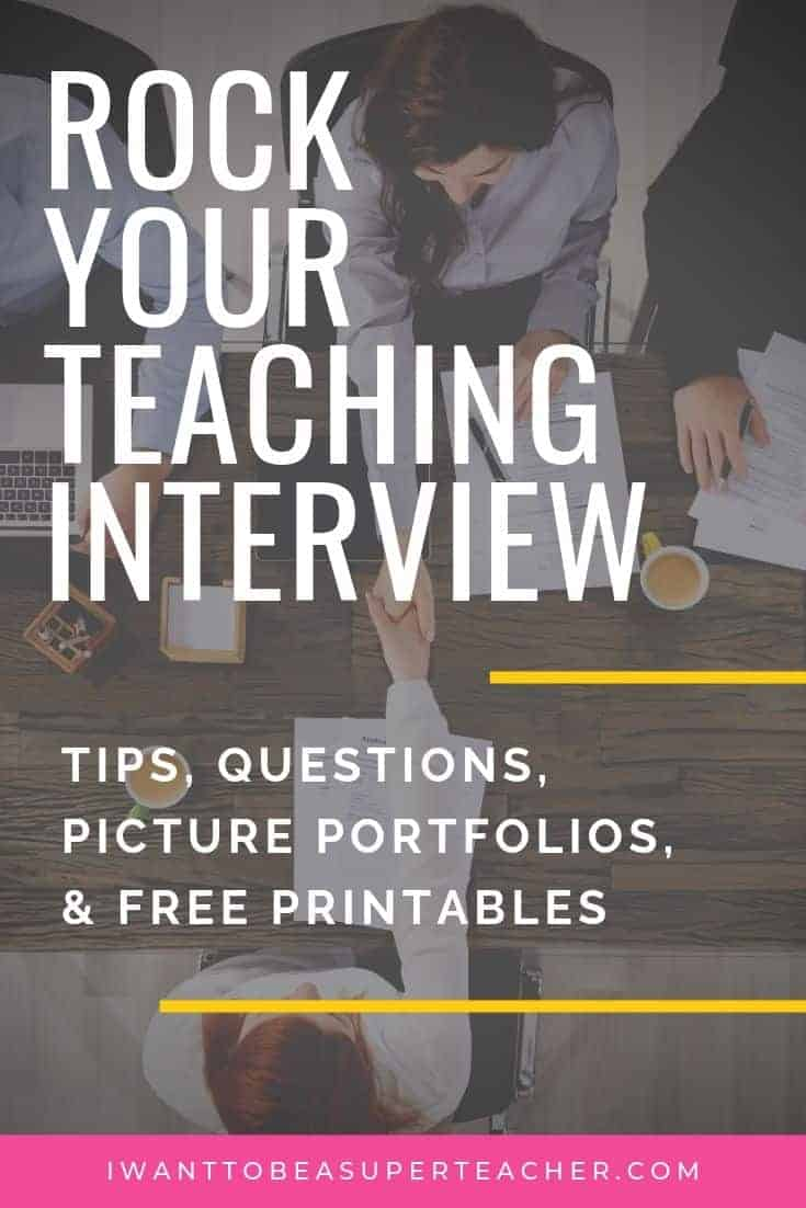 Rock Your Teacher Interview: Tips, Questions & Portfolios - I Want