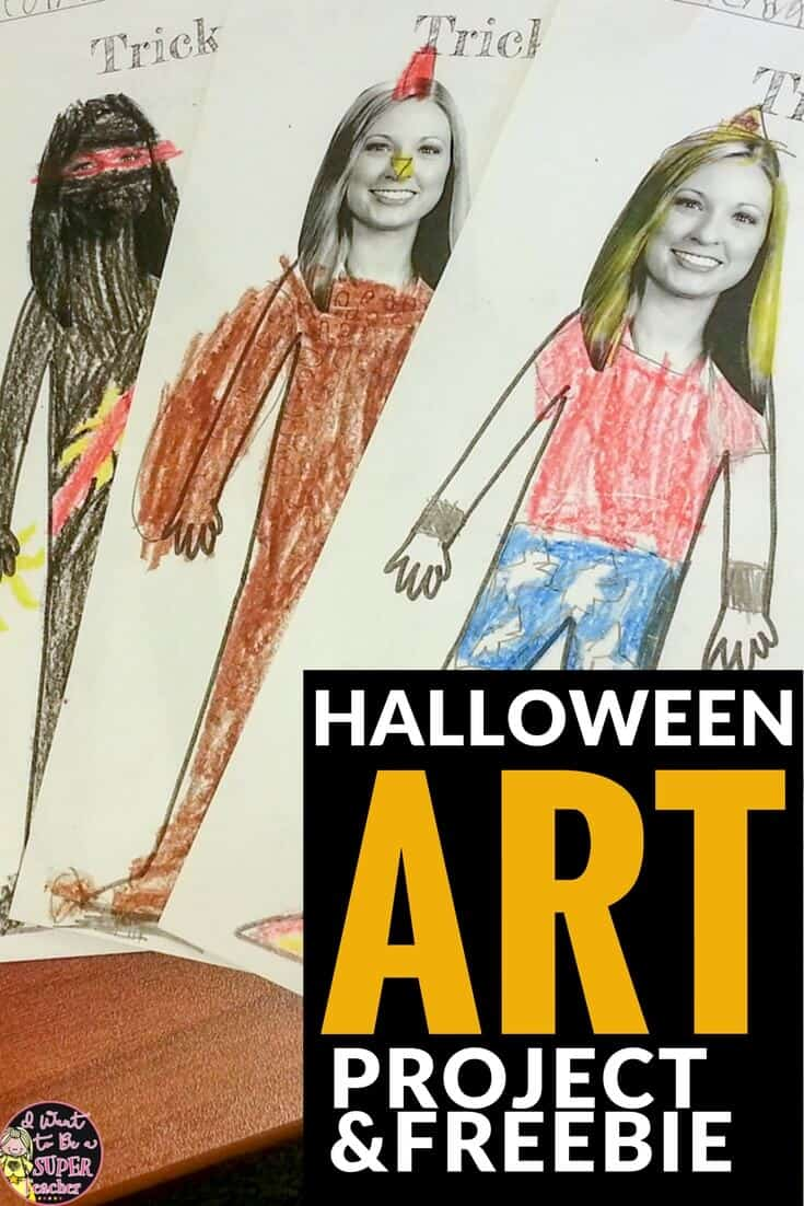 A fun FREE Halloween art project for elementary kids: What Should my Teacher be for Halloween? 3 editable printables for teachers. Perfect for 1st, 2nd, 3rd, 4th, or even 5th grade! #halloween #halloweenart #freebie #education #teaching