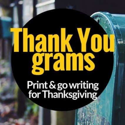 Thank you grams: a free Thanksgiving activity for 2nd and 3rd grade students