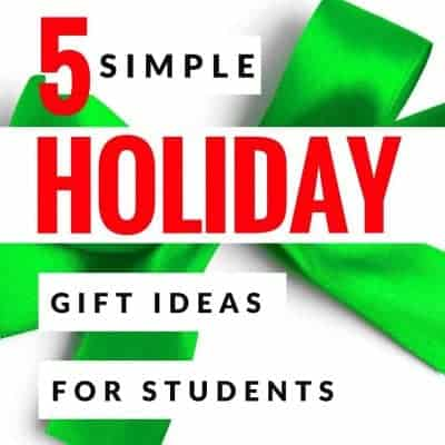 "Looking for a simple gift you can get for your class of 2nd or 3rd grade elementary students? From free printables, to DIY, to Amazon Prime-ing something to your school last minute, you can find the perfect easy ""student from teacher"" gift with these 5 simple student gift ideas. #christmas #christmasgifts #studentgifts #free #amazon #amazonprime #freeprintables"