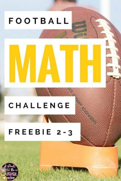 A FREE football math activity for your high flying 2nd and 3rd grade students. Just print and go! Use during the football playoffs or as a Super Bowl math activity in January or February. Perfect for math center activities, homework, problem of the week, small group work, a number talk, or fast finisher. Fun for kids and NO PREP for teachers! Click for the free download. #math #free #teacherspayteachers #education #tpt #secondgrade #thirdgrade #football #superbowl