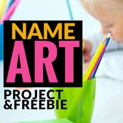 Art Project for Year Long Bulletin Boards – Bubble Letter Name Art + Freebie