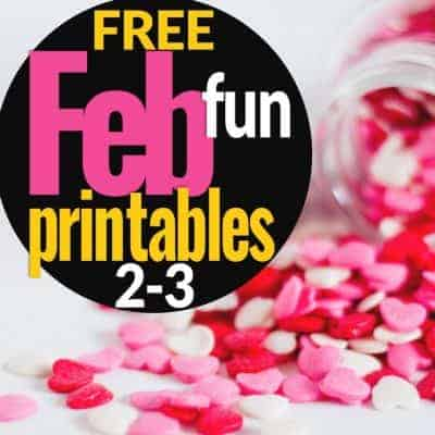 Save Your Sanity with 4 {FREE} February Printables