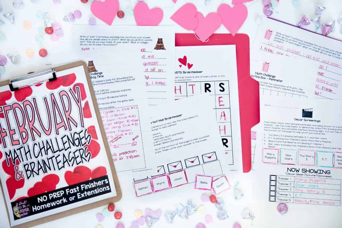 photograph regarding Free Printable Morning Work for 3rd Grade named Preserve Your Sanity with 4 No cost February Printables - I Need