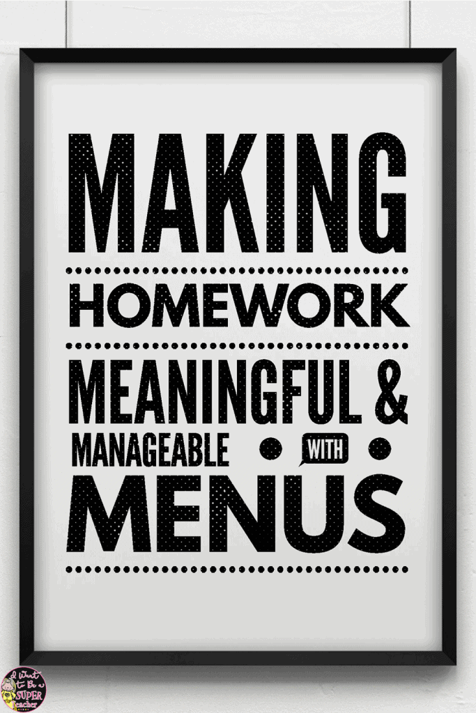 Looking for a new homework management solution? Try homework menus! Tips on how to organize your homework practices using menus to motivate your kids and differentiate through choice. All subjects {reading, writing, math, spelling, word work} can be integrated for one stop homework shopping! Click for more ideas PLUS free printables for 2nd and 3rd grade to get you started. #education #homework #homeworkmenus #teaching #differentiation #elementaryschool