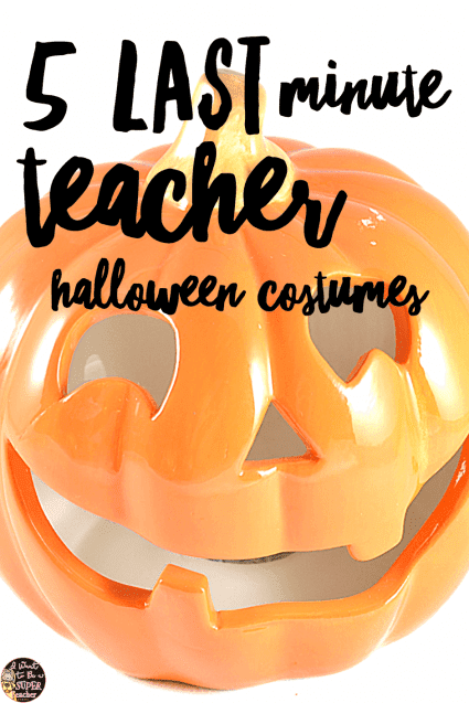 5 simple DIY ideas for teacher Halloween costumes! If you need something easy and creative for yourself or elementary grade level team, check out these super simple DIY costume ideas that can be made with items in your closet! #halloween #diyhalloweencostumes #education #diycostume #teacherhalloweencostumes