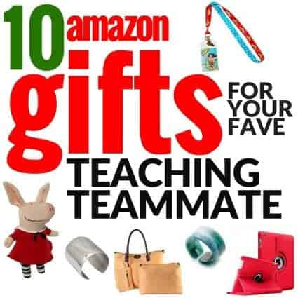 Looking for the perfect Christmas gift for your favorite elementary teacher or teaching teammate? Check out these Amazon gift ideas for Christmas, back to school, birthdays, end of the school year, teacher appreciation, or any holiday you want to get your favorite educator something cute & useful! Even on a budget you can find the perfect present for your fave classroom teacher in these 10 teacher teammate gift ideas! #christmas #christmasgifts #giftideas #Amazon #AmazonPrime #PPHOLIDAY
