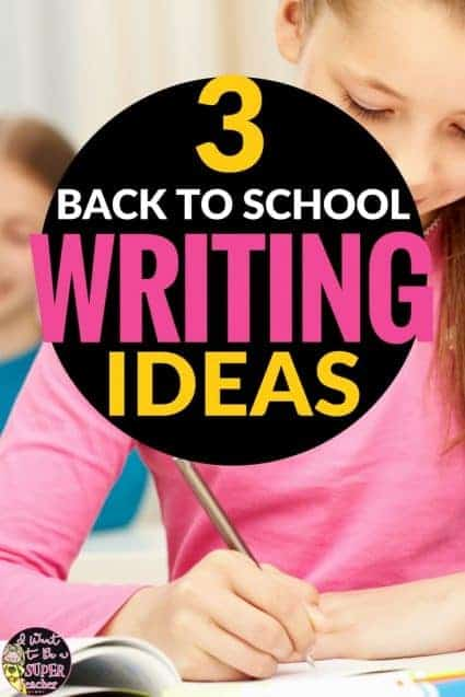 Looking for back to school writing activities? This blog post includes ideas and lessons teachers can use during the first weeks of school to get started with writer's notebooks and generating ideas for writing. Perfect for 2nd and 3rd grade students. #2 is a great activity for the first day!