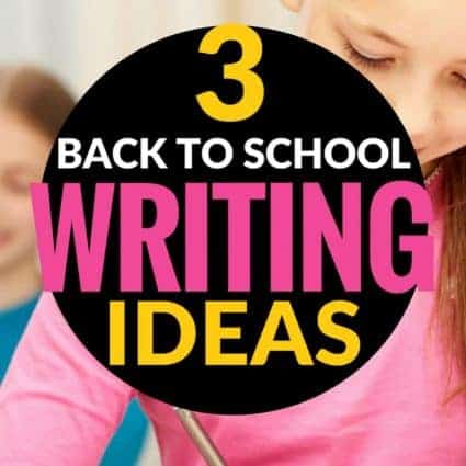 Looking for back to school writing activities? This blog post includes ideas and lessons teachers can use during the first weeks of school to get started with writer's notebooks and generating ideas for writing. Perfect for 2nd and 3rd grade students. #2 is a great activity for the first day! #education #writing #2ndgrade #3rdgrade