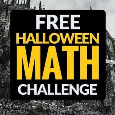 A FREE Halloween math activity. Just print and go! This October math challenge worksheet is perfect for advanced 2nd and 3rd graders. Use for math center activities, homework, problem of the week, small groups, or to get a breather during a holiday party. Fun for kids and NO PREP for teachers! Click for the free download. #halloween #halloweenmath #freebie #education #secondgrade #thirdgrade