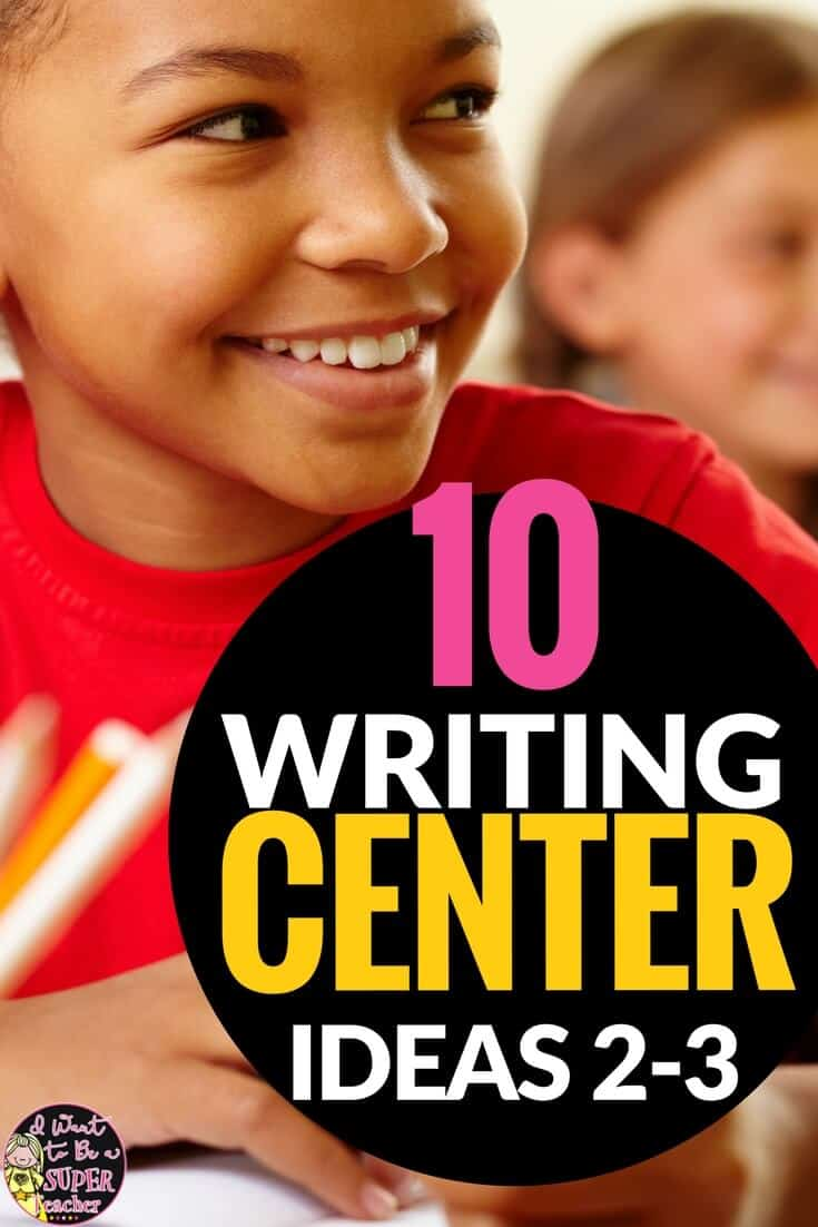 10 ideas for writing activities you can add to your writing center, Daily 5 time, or literacy stations + 2 free print and go resources. Perfect for 2nd and 3rd grade kids. Number 3 is my fave! #education #centers #writingcenter #secondgrade #thirdgrade #daily5 #elementaryeducation #elementaryclassroom