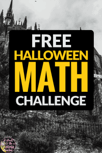 A FREE math activity for Halloween. Just print and go! This October Math Challenge is perfect for advanced 2nd and 3rd graders! Use for math centers, homework, problem of the week, small groups, or to get a breather during a holiday parth. Fun for kids and NO PREP for teachers! Click for the free download.