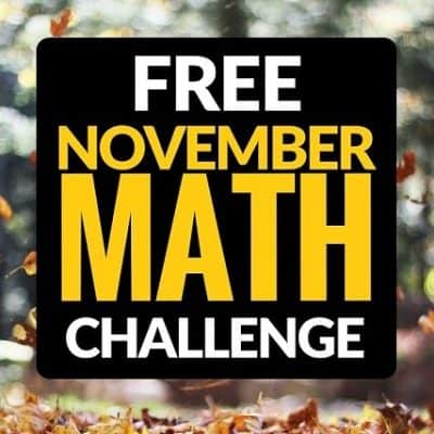 The NEW November Math Challenge is Here {and it's FREE}