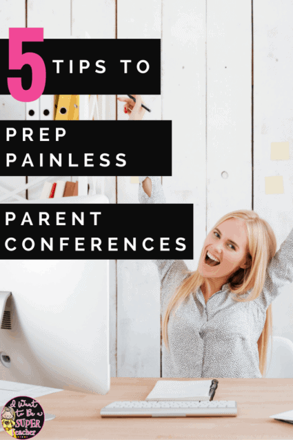 Planning for parent conferences? This post includes 5 tips for preparing + two free parent conference forms you can use to make parent conference prep as painless as possible.