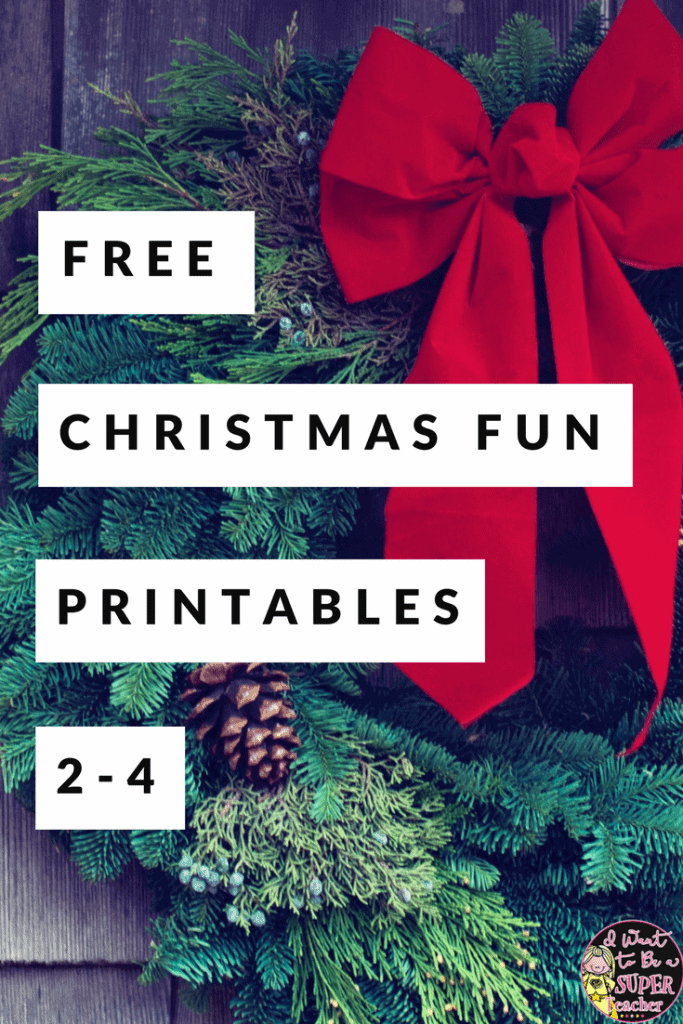 If you're looking for some FREE Christmas printables you can use for holiday centers, fast finishers, homework, or as a holiday option during your classroom Christmas party, check out these four December Holiday Fun Activities. Includes math, US geography, letter writing, and partner game printables. These ideas are perfect for kids in 2nd, 3rd, or 4th grade classrooms. #christmas #education #secondgrade #thirdgrade #fourthgrade #freeprintables #freebie #teacherspayteachers #tpt #teachers