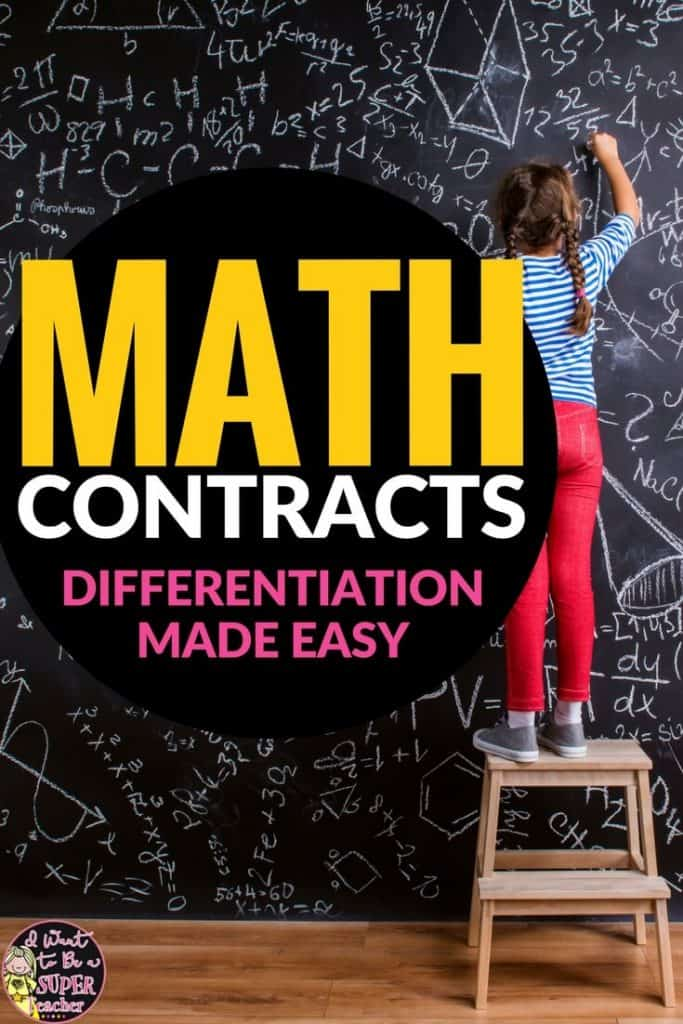 Math-contracts-differentiation-2nd-3rd-grade - I Want to be a Super ...