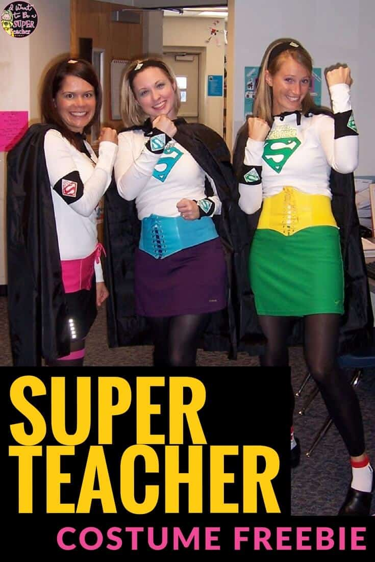 Diy Costume Be A Super Teacher With Free Iron On Patterns I Want To Be A Super Teacher
