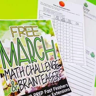 Engage and Challenge with {FREE} March Math Activities
