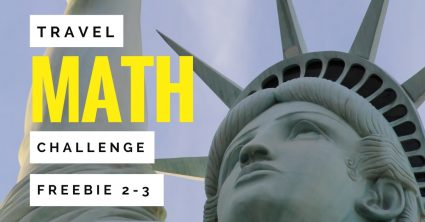 A FREE travel themed math activity for 2nd and 3rd grade kids! Teachers can use these free math printables as math centers, morning work, fast finishers, enrichment, homework, or number talks. Perfect for a travel themed classroom, the end of the school year, or to integrate math and social studies! Includes a Statue of Liberty math challenge, lined page for students to write about their mathematical thinking + answer key. NO PREP for teachers. Just print and go! Click for the free download. #free #math #education #secondgrade #thirdgrade #statueofliberty #travel #landmark