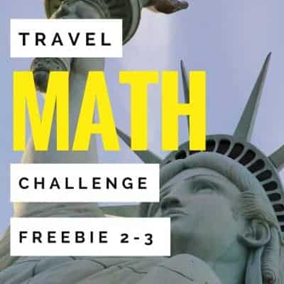 A Statue of Liberty math challenge activity for 2nd and 3rd grade students