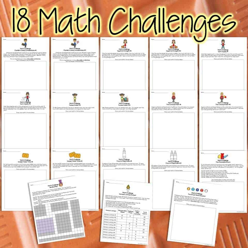 Charlie and the Chocolate Factory Math Activities | Math Challenges &  Brainteasers with Candy Themes