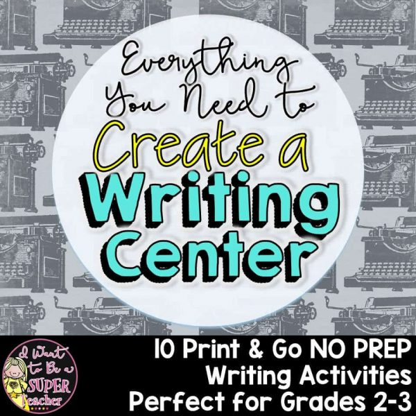 No stress literacy centers! These no prep writing activities are perfect for your 2nd and 3rd grade students. Teachers can use these fun classroom activities for writing centers, literacy centers, early finishers, daily 5, or small group learning. Includes 10 writing activities (including writing prompts in 3 sizes) + detailed step by step instruction pages for students + printables for every activity ready to print & go! Click for details. #secondgrade #thirdgrade #literacycenters #writing