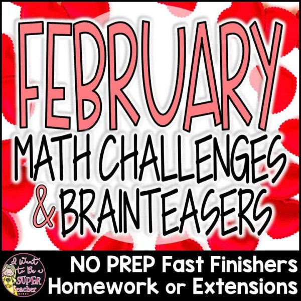 Valentine's Day math activities for 2nd or 3rd grade in February. Use these engaging math printables with Groundhog Day, Hundreds Day, and Valentine's Day themes for math centers, morning work, number talks, math homework, fast finishers, math enrichment, problem of the week, or small group learning. Perfect for advanced second and third grade students. These 26 math problem worksheets are FUN for kids and NO PREP for teachers! Click for details. #secondgrade #thirdgrade #math #valentinesday